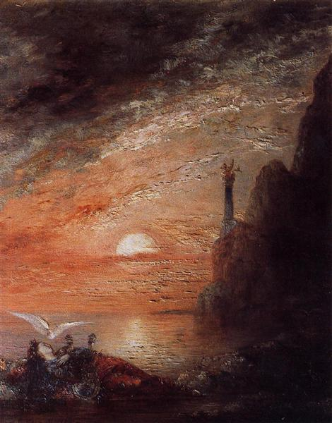 The Death of Sappho, c.1873 - 1876 - Gustave Moreau