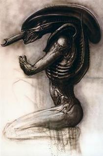 Alien III, sideview III (Work No. 372) - H.R. Giger