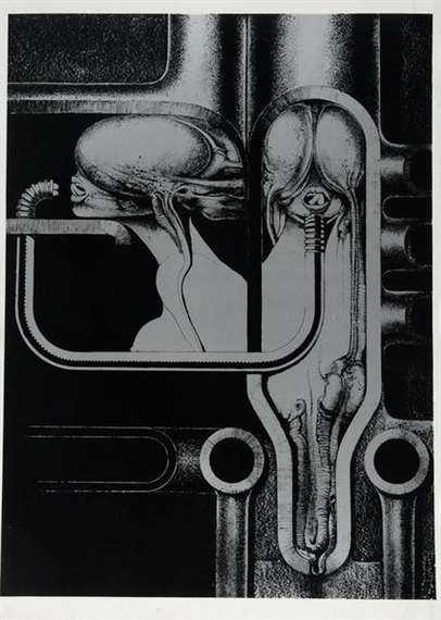 Sheet from Biomechanoiden, 1969 - H.R. Giger