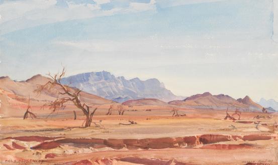 Drought (Arkaba), 1929 - Hans Heysen