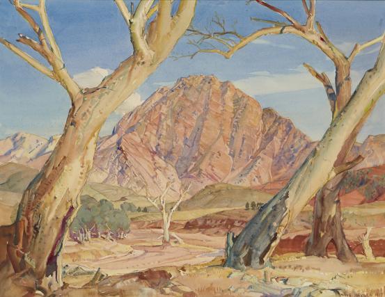 Guardian of the Brachina Gorge - Hans Heysen