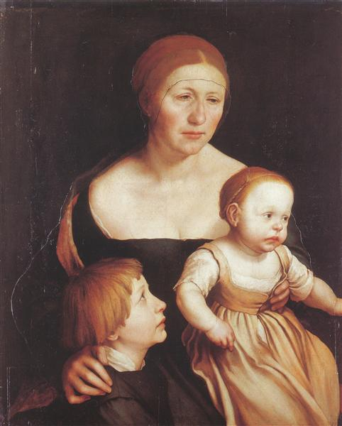 Charity (The Family of the Artist), c.1528 - Hans Holbein the Younger