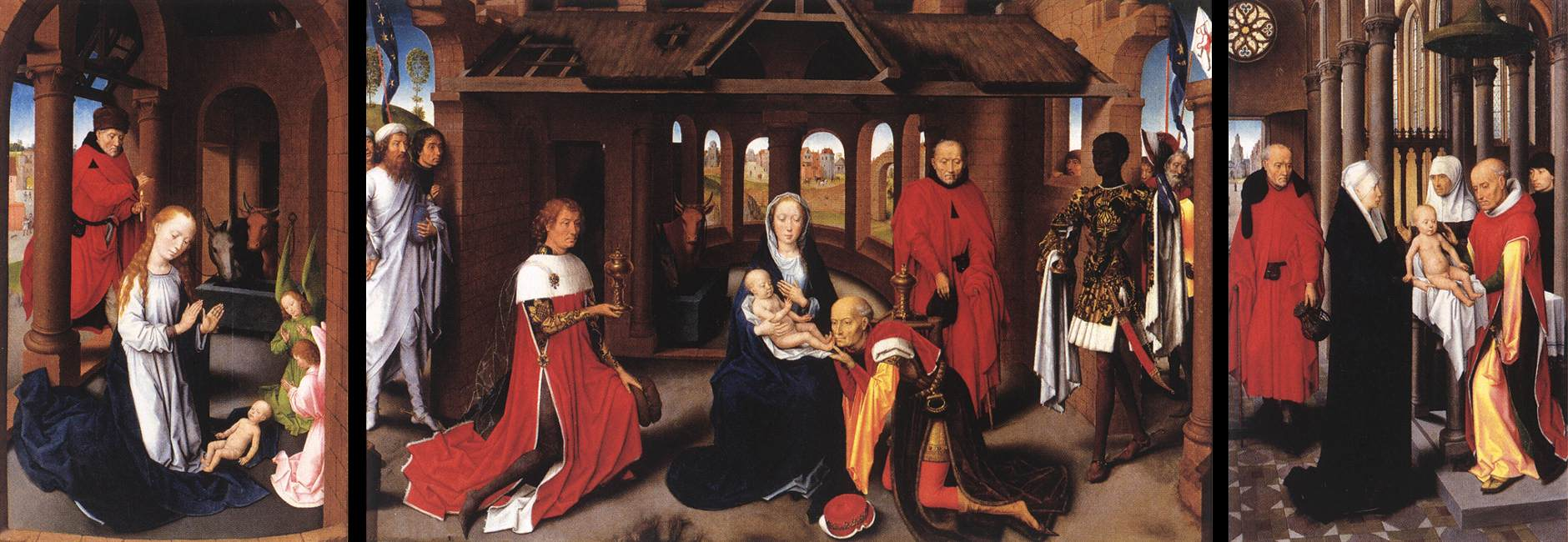 Adoration of the Magi: Whole Triptych