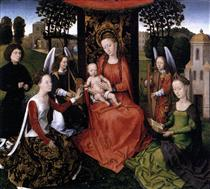 Mystic marriage of St Catherine - Hans Memling