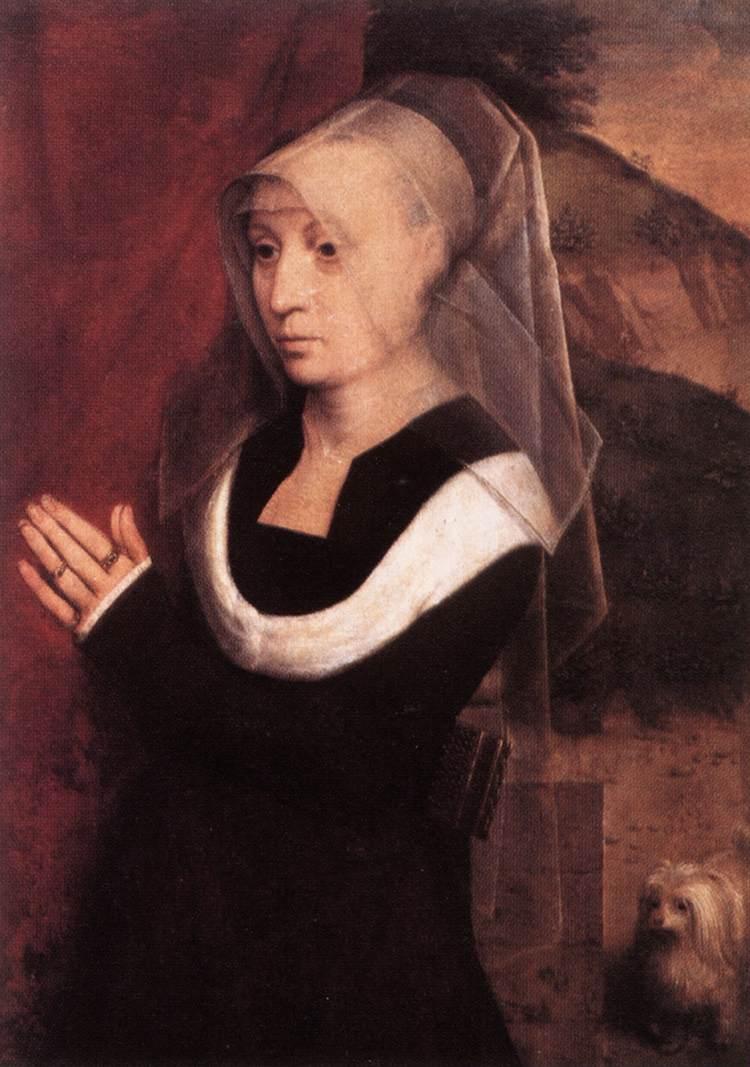 Woman Praying Painting Portrait of a Praying Woman