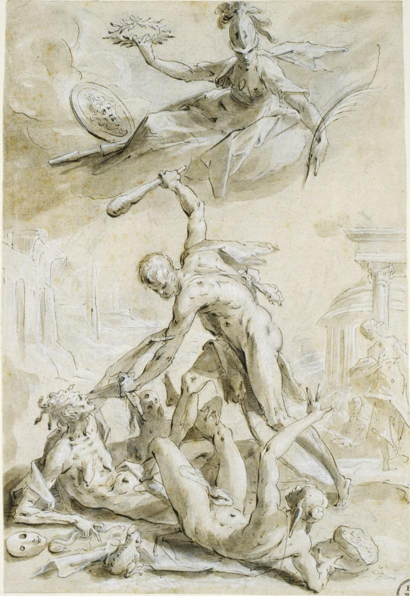 Hercules defeating the vices, 1600