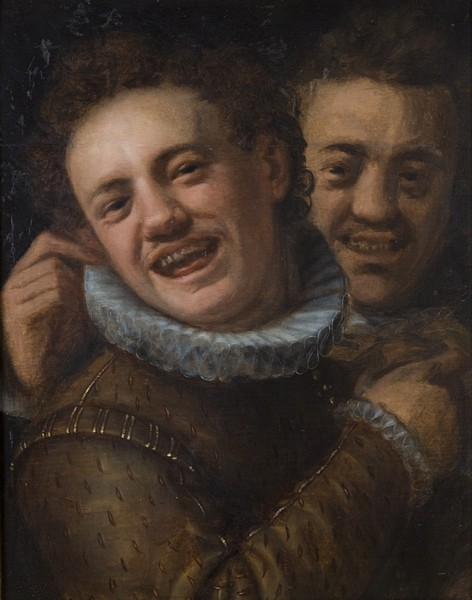 Two laughing men (double self-portrait), 1574