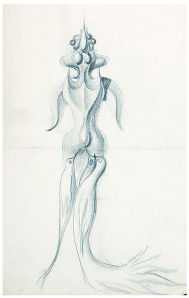 Cadavre exquis with Theodor Brauner - Hedda Sterne