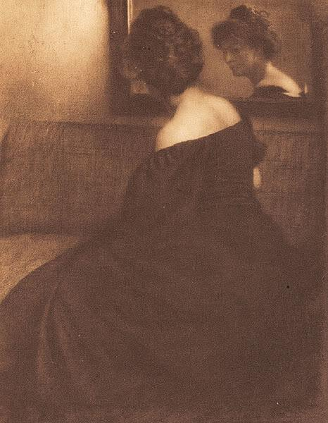 Lady before a mirror, 1904 - Heinrich Kuhn