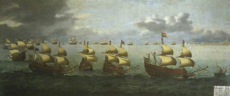 The Return of Prince Charles from Spain, 5 October 1623, 1624 - Hendrick Cornelisz Vroom