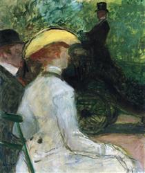 In the Bois de Boulogne - Henri de Toulouse-Lautrec