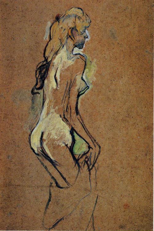 Nude Girl - Henri de Toulouse-Lautrec. Artist: Henri de Toulouse-Lautrec