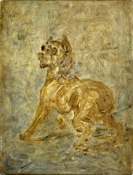 The Dog (Sketch of Touc) - Henri de Toulouse-Lautrec