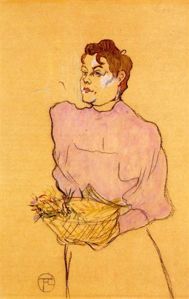 The Flower Seller, 1894 - Henri de Toulouse-Lautrec