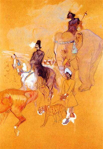 The Procession of the Raja, 1895 - Henri de Toulouse-Lautrec