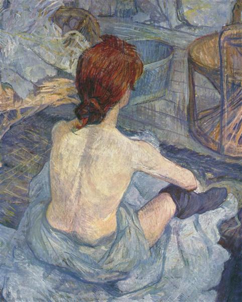 Rousse also called Toilet, 1889 - Henri de Toulouse-Lautrec