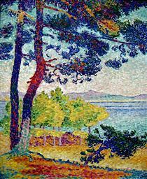 Afternoon at Pardigon, Var - Henri-Edmond Cross