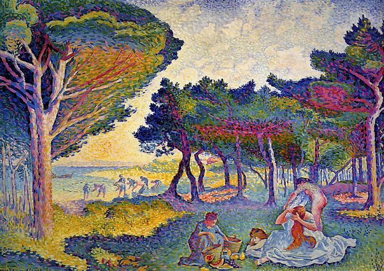 By the Mediterranean, 1895 - Henri-Edmond Cross