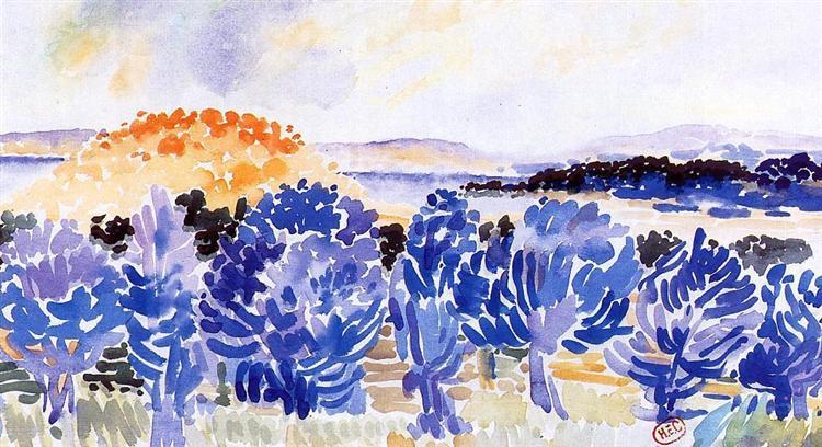 Landscape, c.1908 - c.1909 - Henri-Edmond Cross