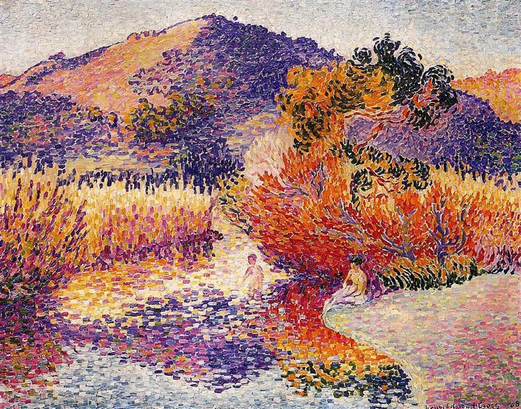 River in Saint-Clair, 1908 - Henri-Edmond Cross