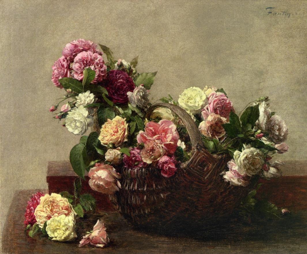 basket of roses 1880 henri fantin latour. Black Bedroom Furniture Sets. Home Design Ideas