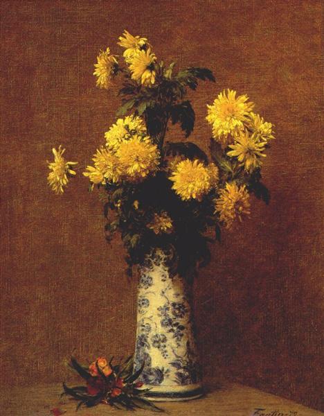 Chrysanthemums, 1879 - Henri Fantin-Latour