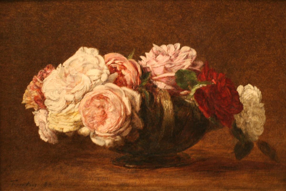 roses in a bowl 1883 henri fantin latour. Black Bedroom Furniture Sets. Home Design Ideas