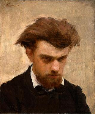 Self Portrait - Henri Fantin-Latour - WikiArt.org - encyclopedia of ...  Selfportrait