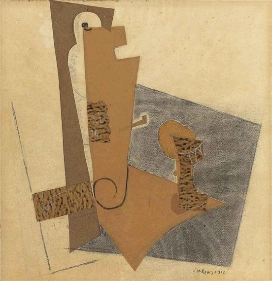 La bouteille, 1916 - Henri Laurens