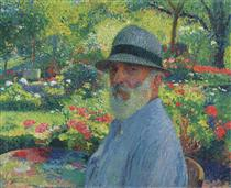 Self Portrait in the Garden - Henri Martin