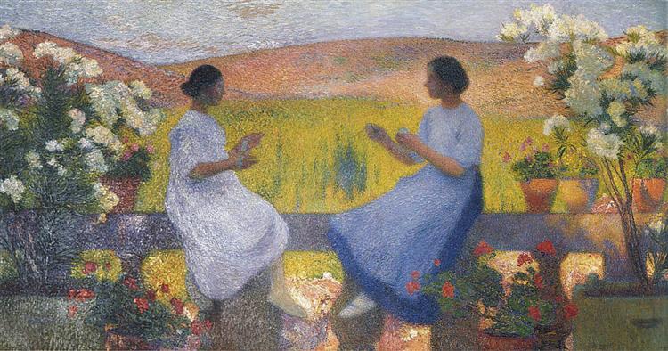 The Weaving Women - Henri Martin