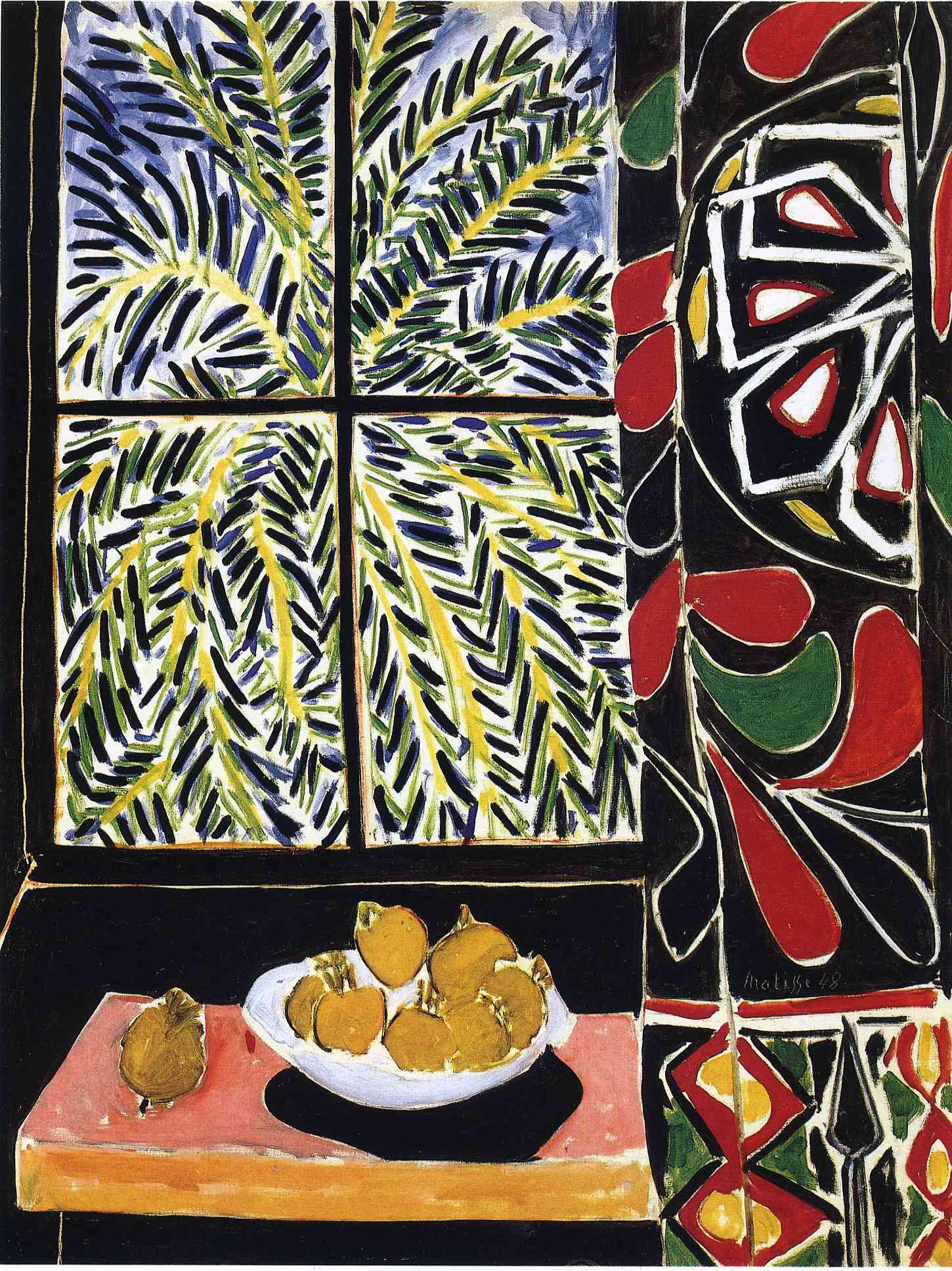 Open window matisse - Interior With Egyptian Curtain 1948 Henri Matisse Wikiart Org