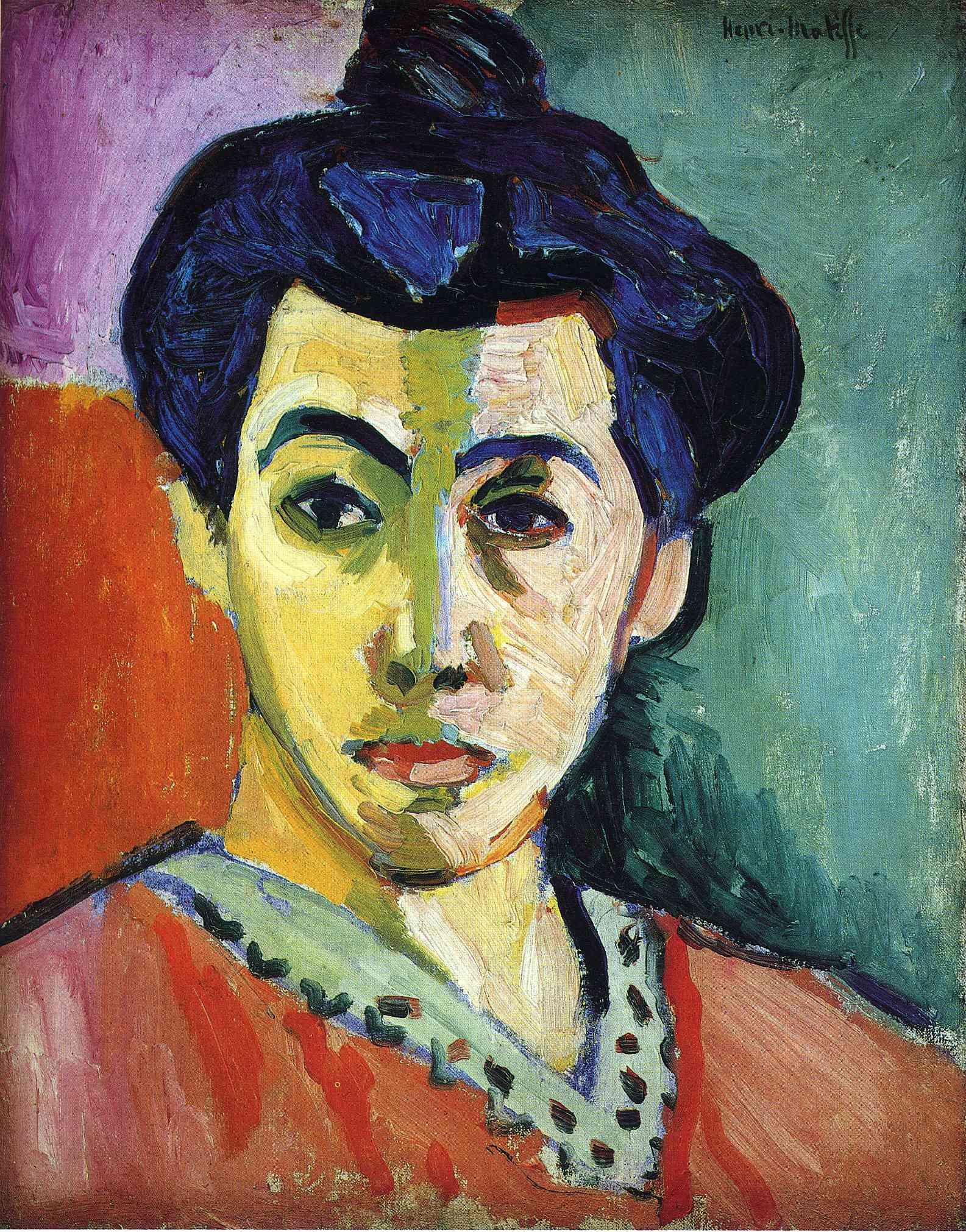 Portrait of madame matisse green stripe