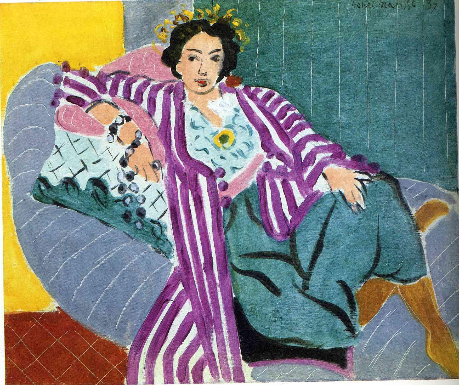 Small Odalisque in Purple Robe, 1937 - Henri Matisse - WikiArt.org