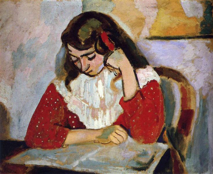 The Reader, Marguerite Matisse, 1906 - Henri Matisse
