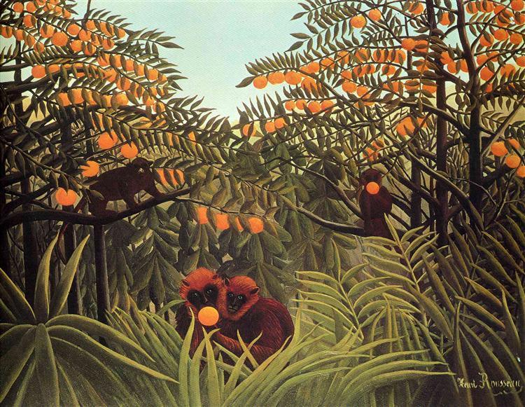 Apes in the Orange Grove, 1910 - Henri Rousseau