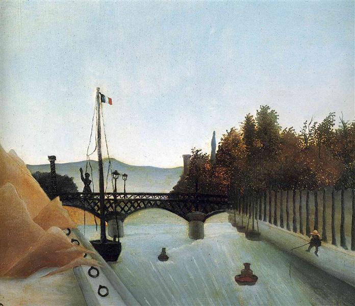 Footbridge at Passy, 1895 - Henri Rousseau