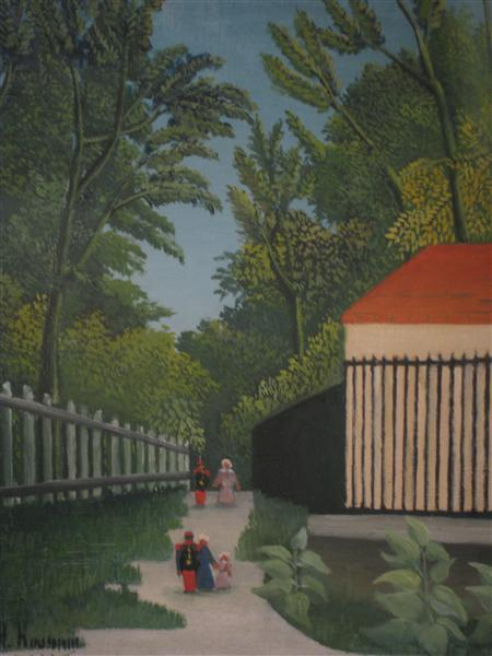 Landscape in Montsouris Park with five figures, 1910 - Henri Rousseau