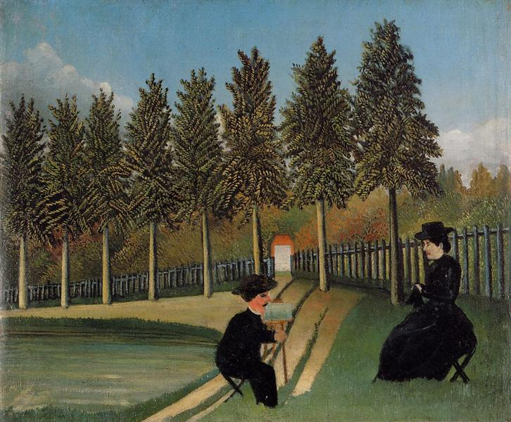 The Artist Painting his Wife, 1900 - 1905 - Henri Rousseau