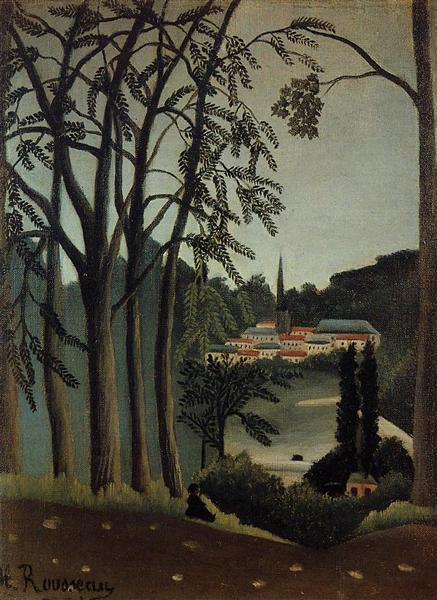 View of Saint Cloud, 1909 - Henri Rousseau
