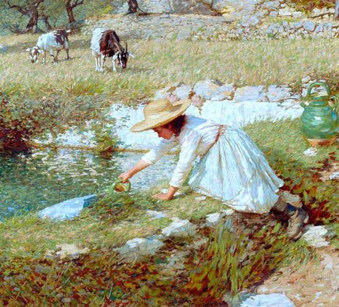 A Provençal Stream, 1903 - Henry Herbert La Thangue