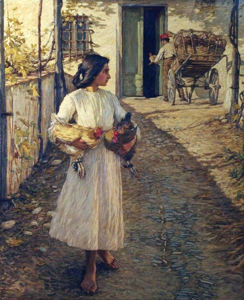 Selling Chickens in Liguria, 1906 - Henry Herbert La Thangue