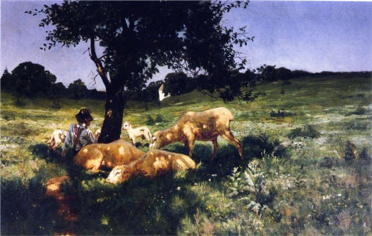 Boy and Sheep Lying under a Tree, 1881 - Henry Ossawa Tanner