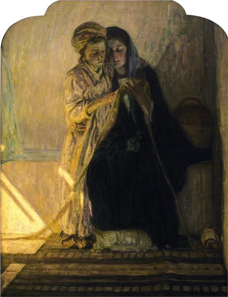 Christ Learning to Read, 1914 - Henry Ossawa Tanner