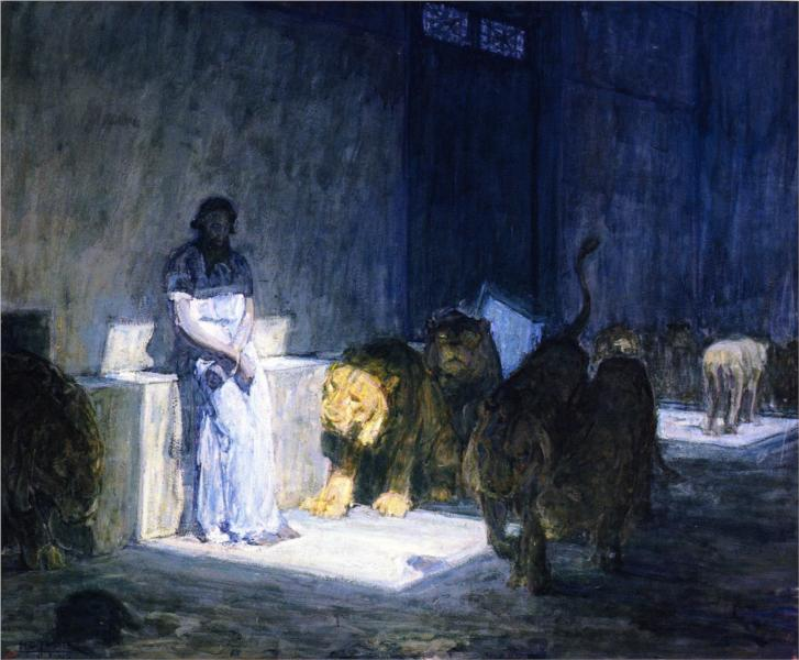 Daniel in the Lions' Den, 1917 - Henry Ossawa Tanner