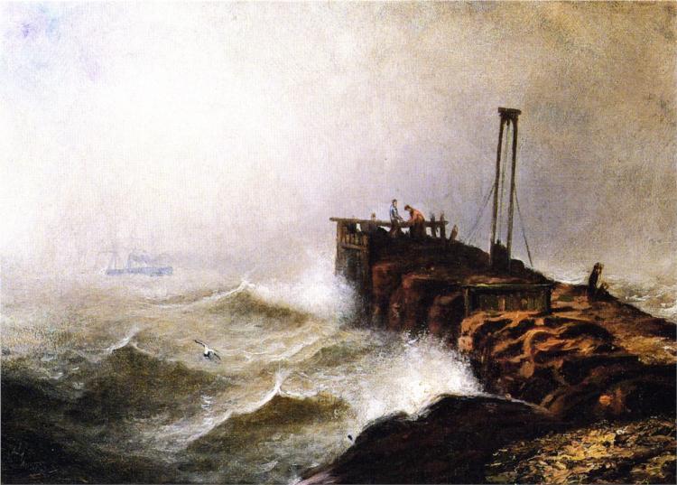 Seascape - Jetty, 1879 - Henry Ossawa Tanner