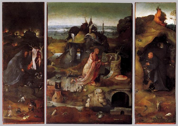 Hermit Saints Triptych, c.1505 - Hieronymus Bosch