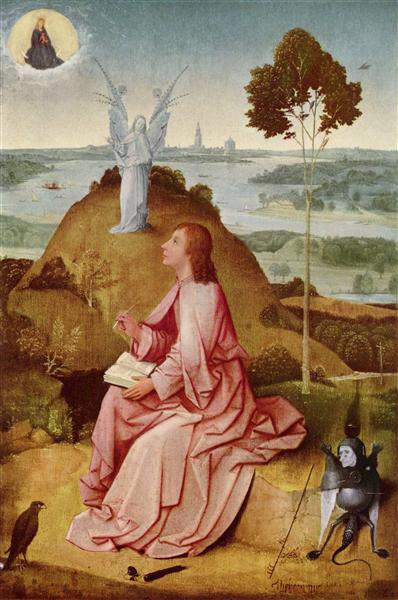 Saint John the Evangelist on Patmos, 1485 - Hieronymus Bosch