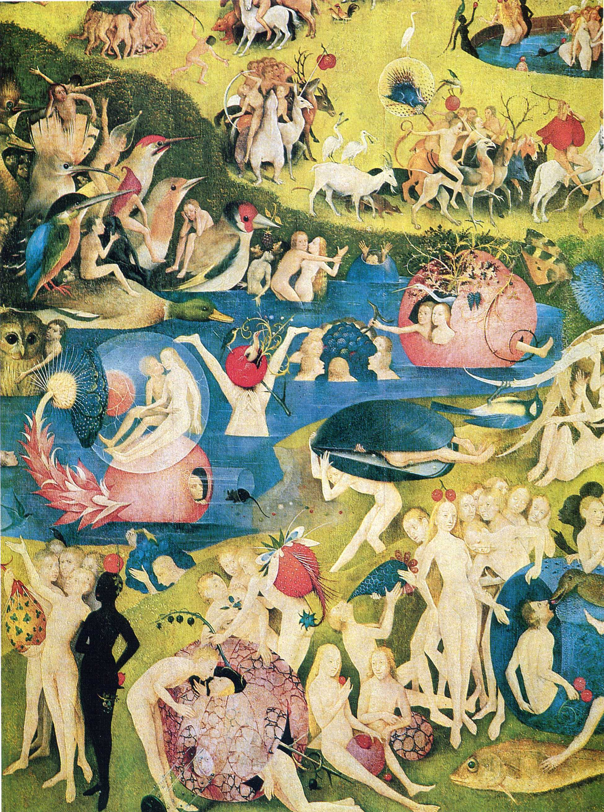The garden of earthly delights detail hieronymus bosch encyclopedia of - Jerome bosch le jardin des delices ...