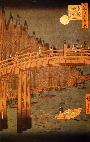 Kyobashi Bridge, 1856 - 1858 - Hiroshige